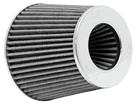 Filtro de Ar K&N Cônico Universal Duplo Fluxo Branco RG-1001WT (3 medidas de encaixe)