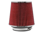 Filtro de Ar K&N Cônico Universal Duplo Fluxo Vermelho RG-1001RD (3 medidas de encaixe)