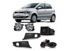 Farol Milha Neblina para Volkswagen Fox 2014 Botão Painel + Moldura Preta