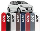 Friso Lateral para Peugeot 208 Pintado