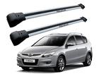 Rack Travessa de Teto para Hyundai i30 CW 2009 até 2013 - Projecar Prata Largo