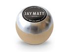Manopla Bola de Câmbio Redonda Couro Bege Aro Escovado Jay Matt Universal 53mm