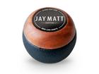 Manopla Bola de Câmbio Redonda Couro Preto Aro Madeira Jay Matt Universal 53mm