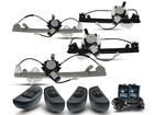 Kit Vidro Elétrico Sensorizado para Sandero 4P 2009 a 2014 Completo