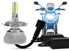 Lâmpada Super Led 3D H4 12V para Moto