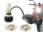 Lâmpada Super LED H4 4400lm Moto AC/DC Efeito Bi Xenon 6 Leds 35W