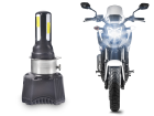 Lâmpada Super LED H4 4400lm Moto AC/DC Efeito Bi Xenon 4 LEDs 35W