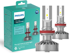 Lâmpada Philips Led Ultinon Fog H8 / H11 / H16 Par 6200K Farol Neblina + 160% Iluminação