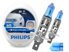Lâmpada Crystal Vision Ultra H1 Super Branca Philips 4300K + Pingo