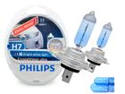 Lâmpada Crystal Vision Ultra H7 Super Branca Philips 4300K + Pingo