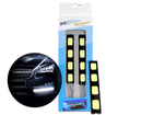 Farol LED DRL Luz Diurna 6000K 4 LEDs SMD 12 cm Branco