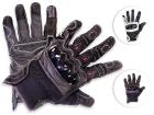 Luva Motociclista Texx Sierra Touch Finger Cano Curto em Couro