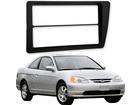 Moldura do Rádio para Honda Civic 2DIN Preta
