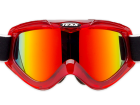 Óculos Motocross Texx Fx-4 Vermelho Transparente com Lente Iridium