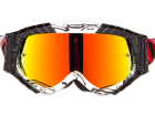 Óculos Motocross Texx Raider Mx Branco e Preto com Lente Iridium