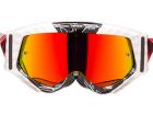 Óculos Motocross Texx Raider Mx Preto e Branco com Lente Iridium