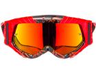 Óculos Motocross Texx Raider Mx Preto e Vermelho com Lente Iridium