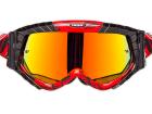 Óculos Motocross Texx Raider Mx Vermelho e Preto com Lente Iridium
