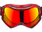 Óculos Motocross Texx Raider Pro Vermelho e Preto Metálico com Lente Iridium