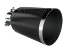 Ponteira de Escapamento Luzian Fibra de Carbono P001
