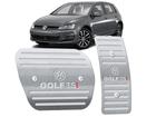 Pedaleira Golf TSI Automático em Aço Inox - Listrado Prata