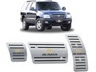 Pedaleira Blazer 1995/2012 Automático em Aço Inox - Listrado Preto
