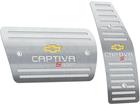Pedaleira Chevrolet Captiva Sport Automático em Aço Inox - Listrado Prata