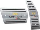 Pedaleira Chevrolet Captiva Sport Automático em Aço Inox - Listrado Preto