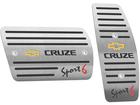 Pedaleira para Chevrolet Cruze Sport6 Automático em Aço Inox - Listrado Preto