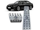 Pedaleira BMW 320i Automático em Aço Inox - Pontilhado Preto