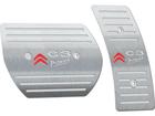 Pedaleira para Citroen C3 Picasso Automático em Aço Inox - Listrado Prata