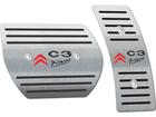 Pedaleira para Citroen C3 Picasso Automático em Aço Inox - Listrado Preto