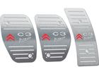 Pedaleira para Citroen C3 Picasso Manual em Aço Inox - Listrado Prata