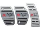 Pedaleira para Citroen C3 Picasso Manual em Aço Inox - Listrado Preto
