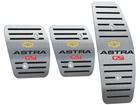 Pedaleira para Chevrolet Astra GSI Manual em Aço Inox - Listrado Preto