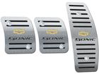 Pedaleira Chevrolet Sonic Manual em Aço Inox - Listrado Preto