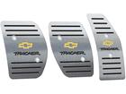 Pedaleira para Chevrolet Tracker 2001/2012 Manual em aço inox - Listrado Preto
