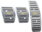 Pedaleira para Chevrolet Zafira Manual em aço inox - Listrado Preto