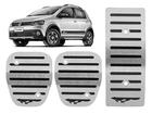 Pedaleira Volkswagen CrossFox Manual em Aço Inox - Listrado Preto