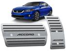 Pedaleira Accord 2008/2015 Automático em Aço Inox - Listrado Preto