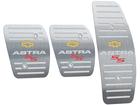 Pedaleira para Chevrolet Astra SS Manual em Aço Inox - Listrado Prata
