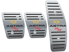 Pedaleira para Chevrolet Astra SS Manual em Aço Inox - Listrado Preto