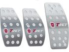 Pedaleira para Punto T-Jet 2013/.. Manual em Aço Inox - Pontilhado Prata