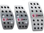 Pedaleira para Punto T-Jet 2013/.. Manual em Aço Inox - Pontilhado Preto