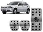 Pedaleira para Volkswagen Gol G1 G2 G3 G4 Manual em Aço Inox - Preto