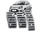 Pedaleira Ford Ka 1997/2014 Manual em Aço Inox - Listrado Preto