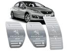 Pedaleira Peugeot 408 Manual em Aço Inox - Listrado Prata