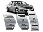 Pedaleira Peugeot 408 Manual em Aço Inox - Listrado Preto