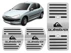 Pedaleira Peugeot 206 Quiksilver Manual em Aço Inox - Listrado Preto