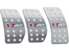 Pedaleira para Punto T-Jet 2007/2012 Manual em Aço Inox - Pontilhado Prata